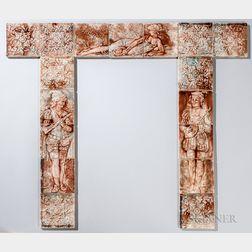 Trent Tile Co. Architectural Tile Fireplace Surround