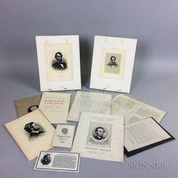 Group of Mostly Lincoln Memorabilia