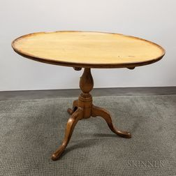 Queen Anne Turned Maple Dished Tilt-top Tea Table