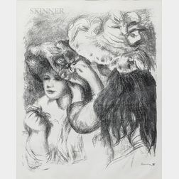 Pierre-Auguste Renoir (French, 1841-1919)      Le chapeau épinglé, 1re planche
