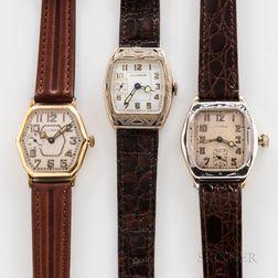 Three Illinois Watch Co. Wristwatches