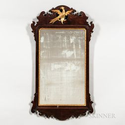 Mahogany and Gilt-gesso Mirror