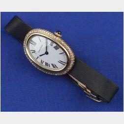 Lady's 18kt Gold and Diamond Wristwatch