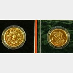 Two United Kingdom £ 5 Gold Proof Coins