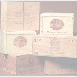Chateau Montelena Cabernet Sauvignon  1985 (4 bts) 1986 (4 bts) 1987 (4 bts) 1988 (1 bt) 1989 (1 bt) 1995 (1 bt)