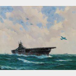 Gordon Hope Grant (American, 1875-1962)      USS Yorktown