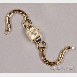 Retro 14kt Gold Wristwatch, Tiffany & Co.