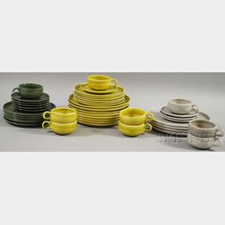 Approximately Forty-two Pieces of Russel Wright American Modern Dinnerware