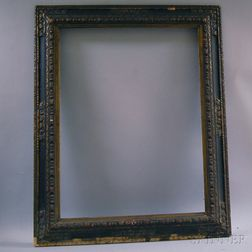Spanish-style Carved Gilt-gesso and Ebonized Frame