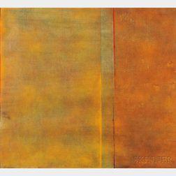 Natvar Bhavsar (American, b. 1934)      Untitled (Orange Abstract)