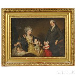Attributed to Johann Christoph Frisch (German, 1738-1815)      Portrait of a Family, possibly the Schillers