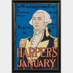 Penfield, Edward (1866-1925) Harper's January   [1896] Poster.