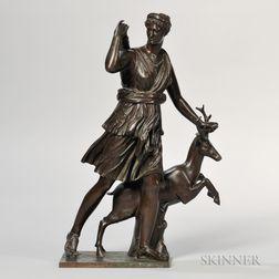 Barbedienne Bronze Figure of Diana the Huntress