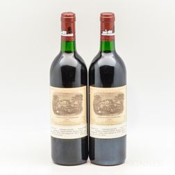 Chateau Lafite Rothschild 1989, 2 bottles