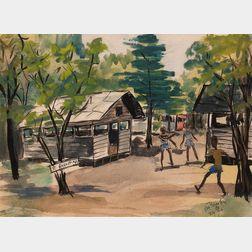 Allan Rohan Crite (American, 1910-2007)      St. Augustine's Boys' Camp, Foxboro