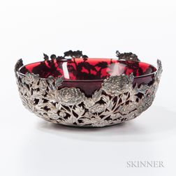 Reticulated Export Silver Bowl