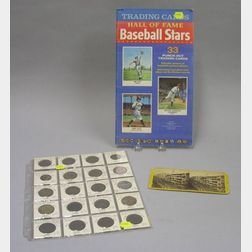 Twenty Brass and Copper Merchants Tokens, a 1961 Book of Golden Funtime Baseball