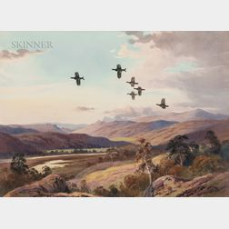 John Cyril Harrison (American, 1898-1985)      Two Works: Blackrock Aflight at Sunset