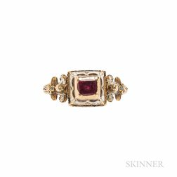 Antique Renaissance Revival Gold Gem-set Ring