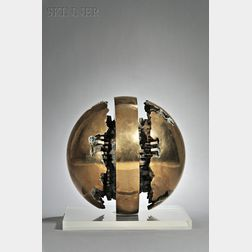 Arnaldo Pomodoro (Italian, b. 1926)      Rotante primo sezionale n. 1 [Rotating First Section No. 1]