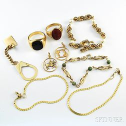 Group of Gold Jewelry
