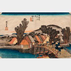 Utagawa Hiroshige (1797-1858), Hodogaya: Shinmachi Bridge