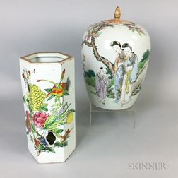 Chinese Export Porcelain Jar and Vase