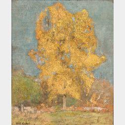 Emil Carlsen (Danish/American, 1853-1932)      Golden Tree