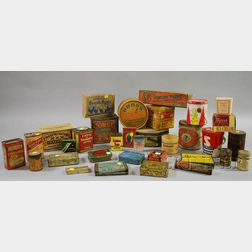 Collection of Lithographed Retail Tins and Printed Boxes