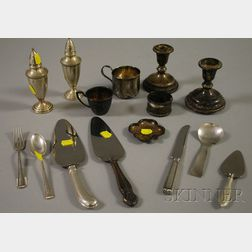 Approximately Fifteen Assorted Sterling Silver Flatware and Table Items