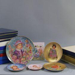 Fifteen Edna Hibel Collectible Plates