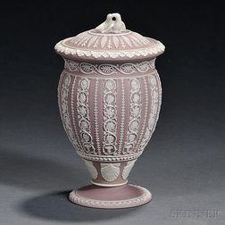 Wedgwood Lilac Jasper Dip Vase and Cover