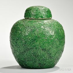 Monochrome Covered Jar
