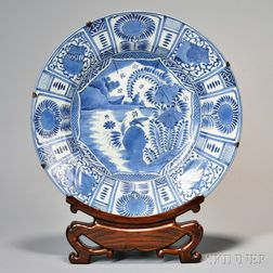 Kraak Blue and White Porcelain Charger