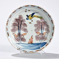 Tin-glazed Earthenware Pheasant Plate