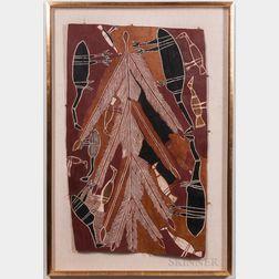 Australian Aboriginal Bark Painting