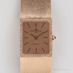 Baume & Mercier 14kt Gold Quartz Wristwatch