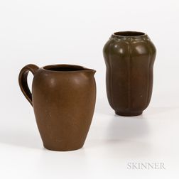 Van Briggle Pottery Pitcher and Vase