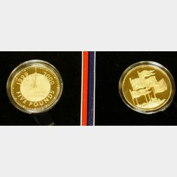 Two United Kingdom £ 5 Gold Proof Crowns