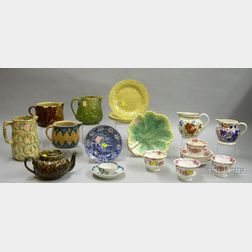 Approximately Eighteen Pieces of English Pottery and Porcelain