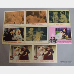 Eight Assorted Jean Harlow and Related Re-release Lobby Cards
