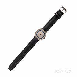 Movado 14kt White Gold and Diamond Wristwatch