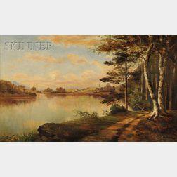 Sylvester Phelps Hodgdon (American, 1830-1906)      Path Along the River