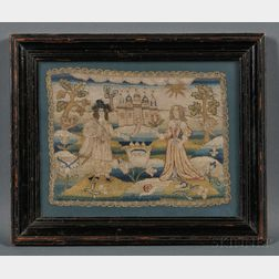 William and Mary Needlework Picture