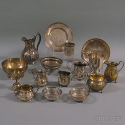 Group of Small Sterling and Coin Silver Tableware