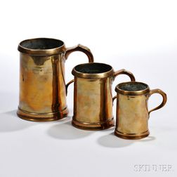 Set of Three Brass Measures
