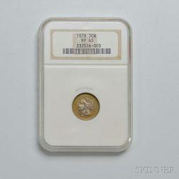 1878 Three Cent Nickel Trime, NGC PF65.