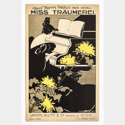 Reed, Ethel (1874-before 1926) Poster Advertising the Sale of Albert Morris Bagby's New Novel, Miss Traumerei.