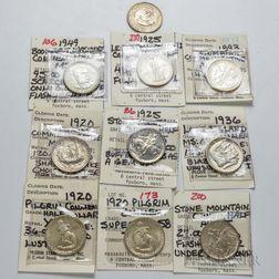Ten Commemorative Half Dollars