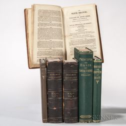 Social Science, Five 19th Century Titles in Six Volumes.